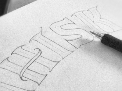 Sunday Doodle sketch sneak-peak typography hand-drawn lettering andreas knutsson