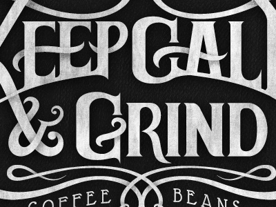 Keep Calm & Grind black and typography sneakpeak coffee keep calm hand-drawing design andreas knutsson texture