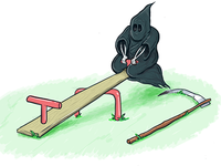 reaper on a see saw