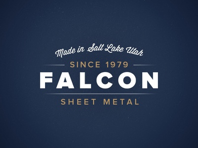 Falcon Sheet Metal logo branding metal vintage