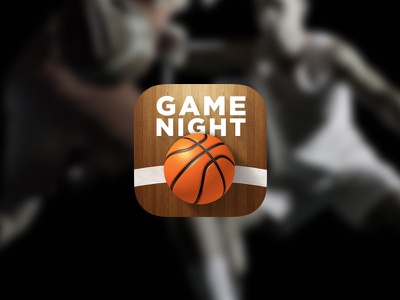 Game Night Basketball nba basketball app iphone icon wood free simple app store icon design