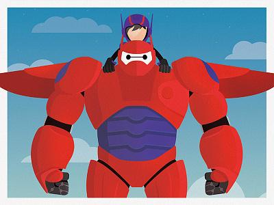 Big Hero 6 print baymax hiro disney animation robot marvel flying clouds print big hero 6 san fransokyo hairy baby