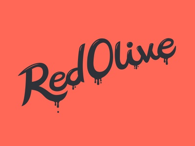 Red Olive Lettering lettering typography type hand lettering hand drawn custom type
