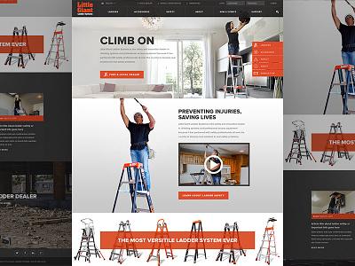Little Giant Ladders turtles orange responsive icons ladders website web