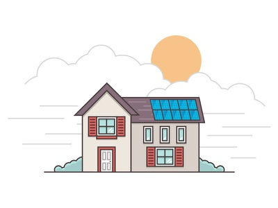 Solar Illustrations simple minimal illustration web vector icon solar