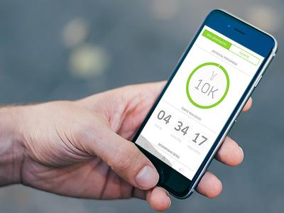 Minha Corrida - Performance Result startup iphone mobile ios flat fitness graphs dashboard marathon running health sport