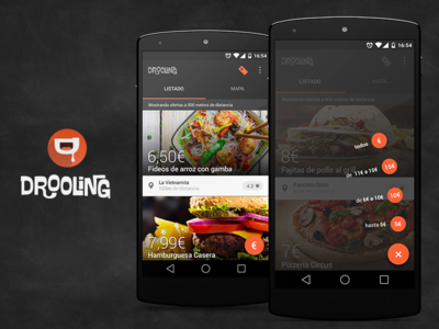 Drooling elisava chalk list food floating action button material design android app