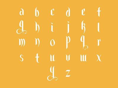 Concept Blackletter Font blackletter graphic design hand lettering type font type design font design typography