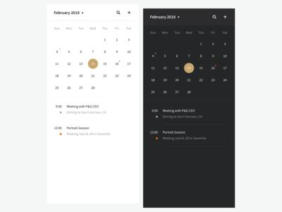 Rushmore — Calendar view