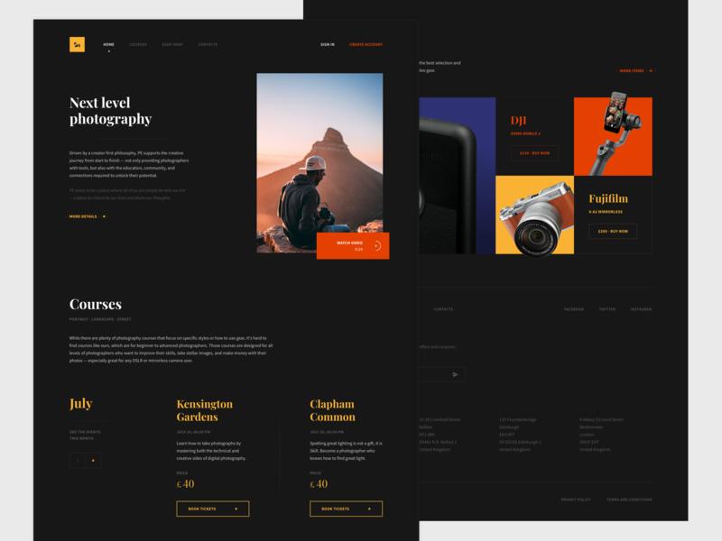 Photo-educat — Landing page