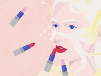 Eyecolor matching Lipsticks