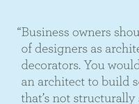 Zeldman Quote from Inc. Magazine
