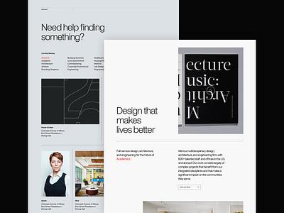 Page Homepage branding clean minimal light dark web design handsome
