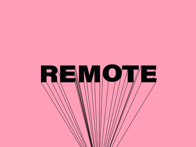 Remote Design Research & Synthesis typography vector branding design animation illustration marketing handsome