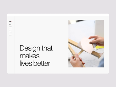 Homepage Animation modern website concept minimal animation website design handsome