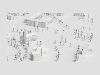 SU Building Modeling map marketing site illustration handosme 3d university