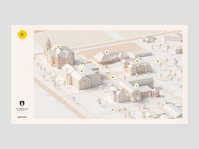 University Navigation 3d animation illustration 3d marketing site school unversity