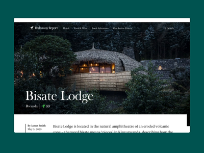 Hideaway Report Destination branding green travel marketing site handsome
