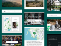 Hideaway Report UI Kit travel web design design marketing handsome