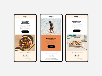 Snap Kitchen Email Designs layout branding and identity mobile design branding brand