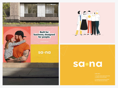 Sana Brand Identity handsome brand guides branding branding concept brand guide brand book branding and identity marketing
