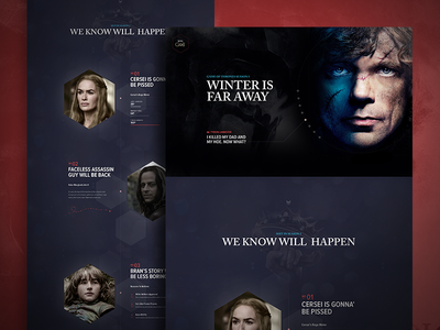 Game of Thrones  marketing mobile ios7 responsive clean premium handsome app