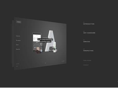Navigation concept premium ux ui web dark navigation handsome
