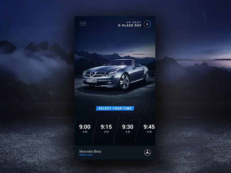 Dream Cars App gradient minimal blue cars ux ui handsome dark ios