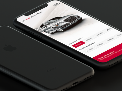 Audi Reservation Flow luxury car reservation ios audi