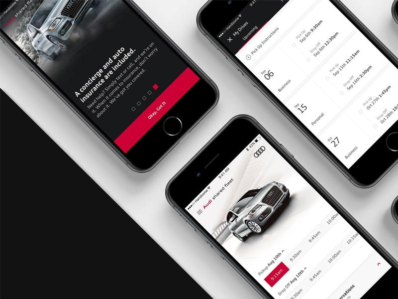Audi minimal modern handsome clean simple mobility ios audi
