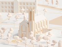 Southwestern University Campus Map   Mesh Build