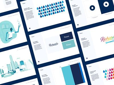 Richard's Rainwater | Brand Book brand illustration illustration brand identity brand book brand design