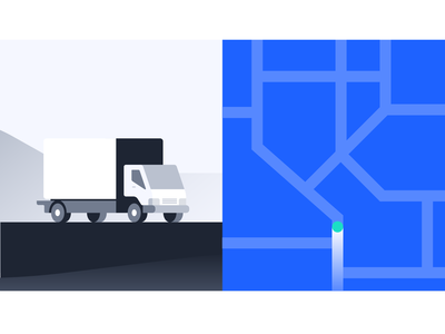 Kalderos Manufacturer Video branding design icon illustration map delivery motion design healthcare