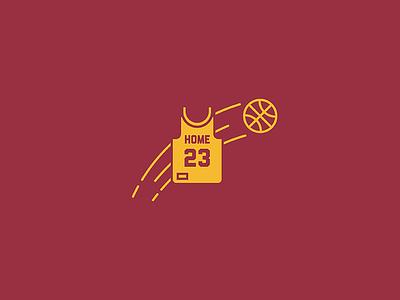 Welcome home LeBron cavs basketball lebron icon illustration