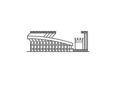 Kauffman Stadium poster illustration royals kauffman baseball
