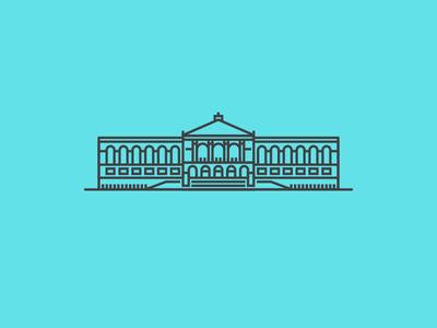 The Art Institute of Chicago  chicago art institute museum illustration icon