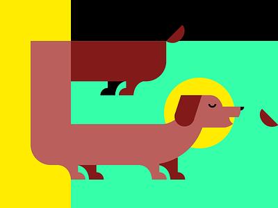 Holy Doggo 🐶🙏 creativemorningswithchinguz waterloo illustration vector illustration dog weiner dog