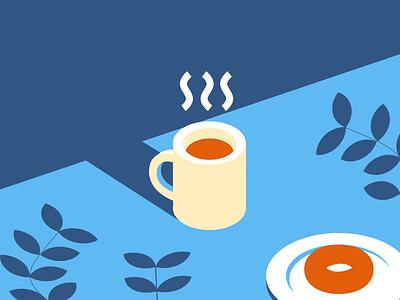 Morning Joe ☕️🌿 creativemorningswithchinguz coffee vector illustration illustration flat