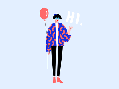 Fashionably Late 🎈😎 style fashion design flat style party illustration vector