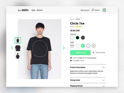 Fashion Product Page 👕 web user interface ui product page fashion e-commerce design product design