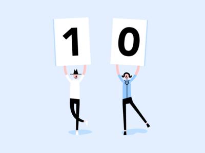 Countdown Graphic ⏳ university of waterloo uw blueprint minimalist countdown flat people vector illustration