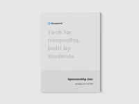 Blueprint Sponsorship Doc