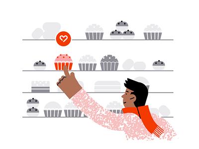 Gathering your preferences ❤️ digital illustration restaurant food people illustration personalization preferences