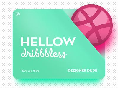 Hellow Dribbblers honor here for good thank you dezignerdude debut at dribbble bermuda aquamarine first shot