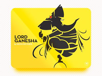 Dancing Ganesha second post on dribbble yellow light best wishes blessings ganpati bapa morya dancing ganesha hindu god ganesh
