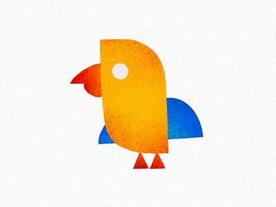 Abstract Illustration Series 03 / Small Bird yellow logo bird icon modern illustration illustration simple multicolour minimal modern grain brush illustration stipple geometric logo bird geometric bird logo abstract logo abstract design