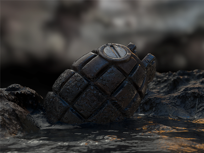 Mills bomb No.36 Mk1 world war visualization quixel model mills marmoset grenade gamedev game bomb 3d