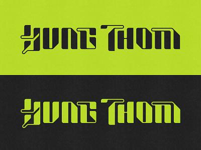 Yung Thom Logotype logo designer typefaces type design handlettering branding typeface logo design lettering logo logotype typography type