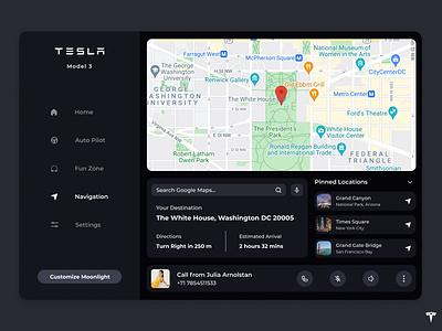 Car Interface Design - DailyUI #034 user interface ui inspiration app ui app ideas ui ideas ui dailyui car app daily ui daily 100 challenge 34 daily ui 034 dailyuichallenge car interface dailyui034