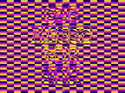 Retina Burn dissolve optical illusion typography
